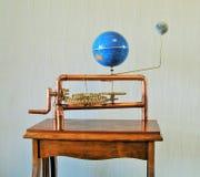 Orrery machine handmade by my husband. Royalty Free Stock Photo