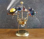 Orrery Steampunk Art Clock Royalty Free Stock Photo