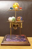 Orrery Steampunk Art Clock With Planets Of The Solar System. Royalty Free Stock Image