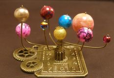 Orrery Steampunk Art sculpture. Royalty Free Stock Image