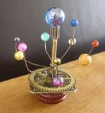 Orrery Steampunk Art sculpture. Royalty Free Stock Photo