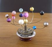Orrery steampunk art small sculpture for dolls house. Royalty Free Stock Image