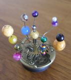 Orrery steampunk art small sculpture for dolls house. I made this orrery steampunk art small sculpture for a dolls house.I sold this on ebay UK Royalty Free Stock Photos