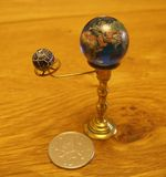 Orrery steampunk art small sculpture for dolls house. I made this orrery steampunk art small sculpture for a dolls house.I sold this on ebay UK Royalty Free Stock Photography
