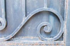 Orrnament Iron Door Detail Stock Photography