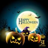 Orrore felice di notte di Halloween Fotografie Stock Libere da Diritti