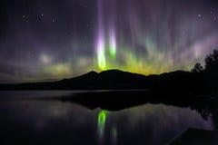 Orsa maggiore e aurora boreale Fotografie Stock Libere da Diritti