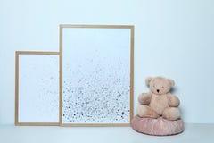 Orsacchiotto ed immagini adorabili Decorazione interna della stanza di bambino fotografia stock