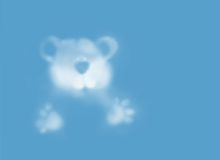 Orsacchiotto-nube Fotografie Stock