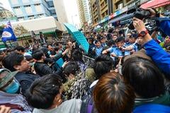 Orsakad blodsutgjutelse för Hong Kong marsch Royaltyfria Foton