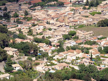 Orsan village, France. Traditional French village from the sky Stock Images