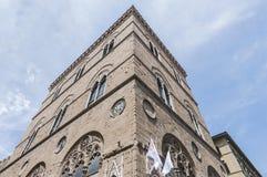 Orsanmichele binnen via Calzaiuoli in Florence, Italië. royalty-vrije stock foto