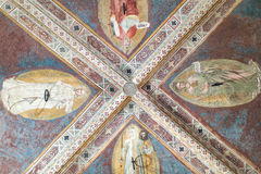 Orsanmichele Church and Museum. Florence, Italy-June 1, 2015. Interior ceiling of the Orsanmichele Church and Museum, Florence, Italy, originally built as a Royalty Free Stock Photography