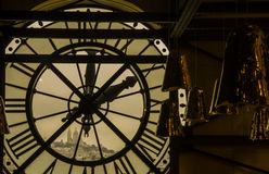 Sacre Coeur from inside the Musee d Orsay Clock Tower Royalty Free Stock Image