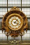 Orsay Musee d ` Orsay Muzealny zegar Paris france Obraz Stock
