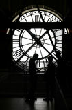Orsay museum clock silhouette Stock Images