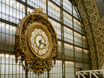 Orsay Museum. Closeup of the Clock. Paris Royalty Free Stock Image