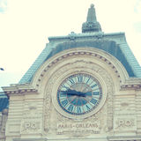 Orsay Museum in Paris with clock where you can see Stock Image