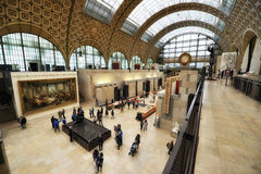 Orsay Museum in Paris. Main alley of the Orsay Museum in Paris, France Stock Photos