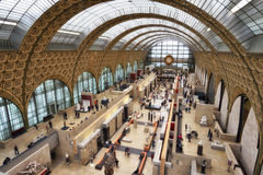 Orsay Museum in Paris. Main alley of the Orsay Museum in Paris, France Royalty Free Stock Image