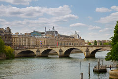 Orsay museum and river Siene, France Royalty Free Stock Photography