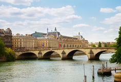Orsay museum and river Siene, France Stock Photo