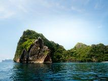 Orse shoe Island in Myanmar sea. stock photography