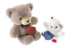 Orsi dell'orsacchiotto con i contenitori di regalo Fotografia Stock