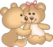 Orsi dell'orsacchiotto nell'amore Fotografia Stock