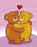 Orsi dell'orsacchiotto nell'amore Immagini Stock Libere da Diritti