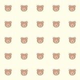 Orsi di Cutie con fondo giallo illustrazione vettoriale