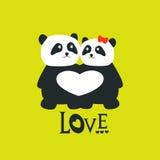 Orsi di panda illustrazione di stock
