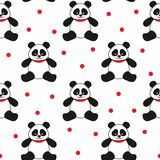 Orsi di panda senza cuciture illustrazione di stock