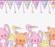 Orsi e fumetti svegli del coniglietto illustrazione vettoriale