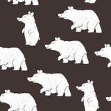 Orsi polari disegnati a mano royalty illustrazione gratis