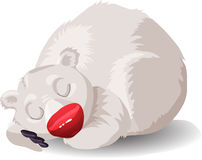 Orso bianco illustrazione di stock