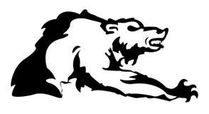 Orso in bianco e nero del profilo - illustrazione Immagini Stock