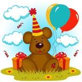 Compleanno dell'orso Fotografia Stock