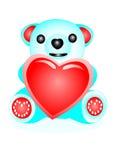 Orso con cuore Fotografia Stock