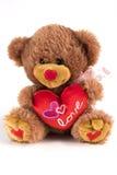 Orso del biglietto di S. Valentino Fotografie Stock