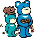 orso del Genitore-bambino Fotografia Stock