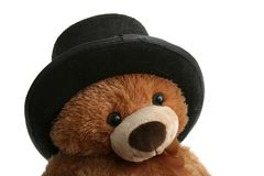Orso del giocattolo con il cappello Fotografia Stock Libera da Diritti