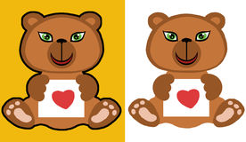 Orso dell'orsacchiotto con amore Fotografia Stock