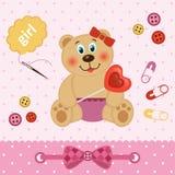 Orso dell'orsacchiotto con cuore Immagine Stock Libera da Diritti