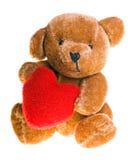 Orso dell'orsacchiotto con cuore Fotografia Stock
