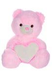 Orso dell'orsacchiotto con figura del cuore Fotografia Stock Libera da Diritti