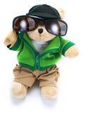 Orso dell'orsacchiotto con gli occhiali da sole Fotografia Stock Libera da Diritti