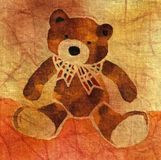 Orso dell'orsacchiotto con un arco Fotografia Stock