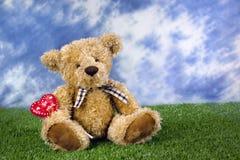 Orso dell'orsacchiotto del biglietto di S. Valentino Immagini Stock Libere da Diritti