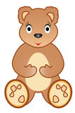 Orso dell'orsacchiotto della ragazza Immagini Stock Libere da Diritti